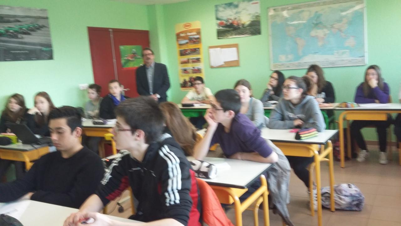 MFR La Péruse  Classe de 3ème.
