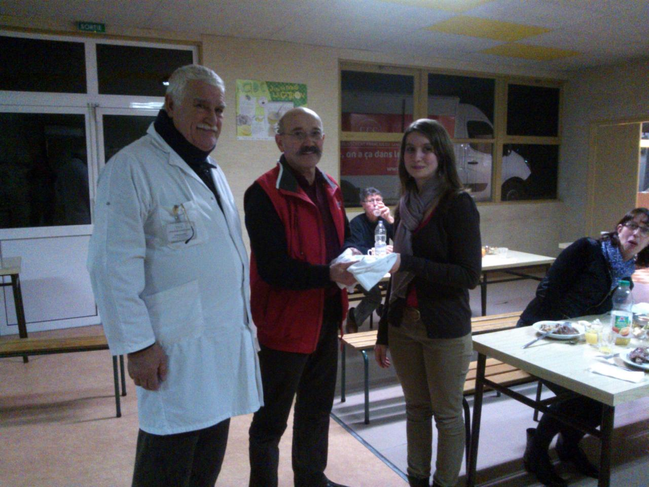 Lorine pour son 2ème don le 30.12.2014 à Chabanais