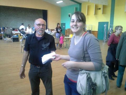 Cindy a réalisé son deuxième don à St Claud le 5 mai 2015.