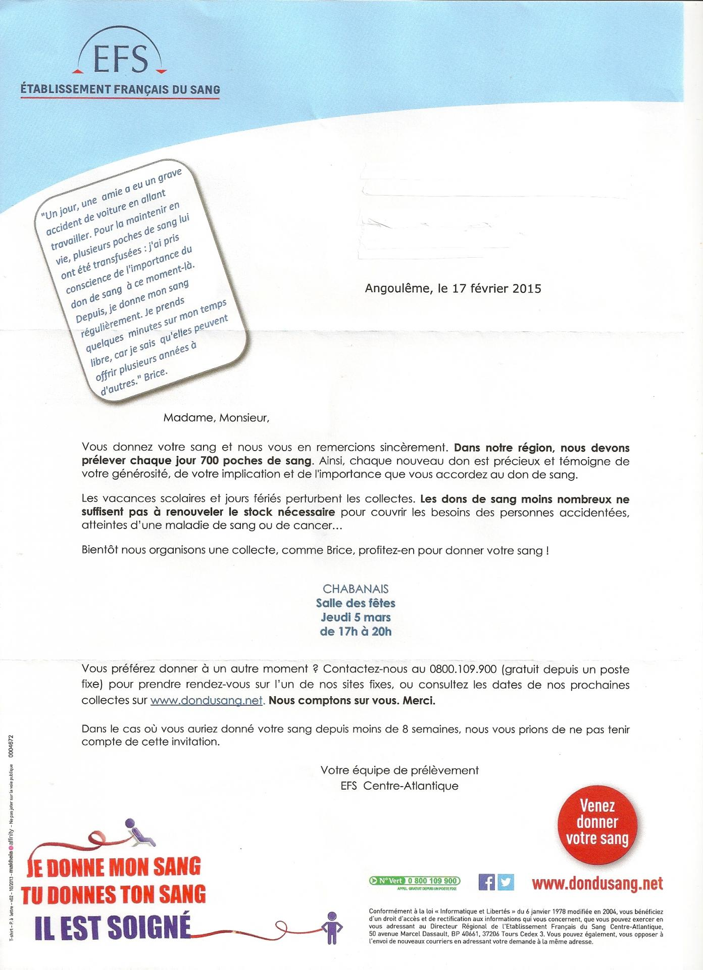 Lettre efs